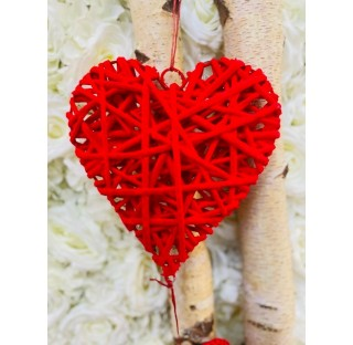 Willow Solid Heart garland